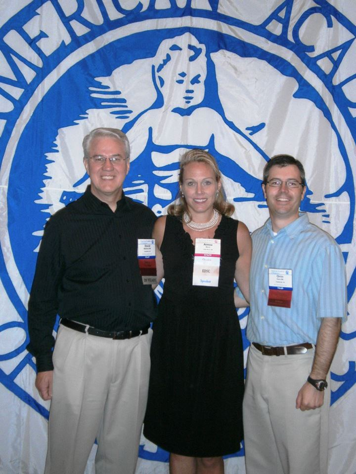 Chapter President David Matthews, MD, FAAP, Executive Director Aimee Berry and Chapter Vice President Orrin Davis, MD, FAAP accept the award at the 2012 Annual Leadership Forum